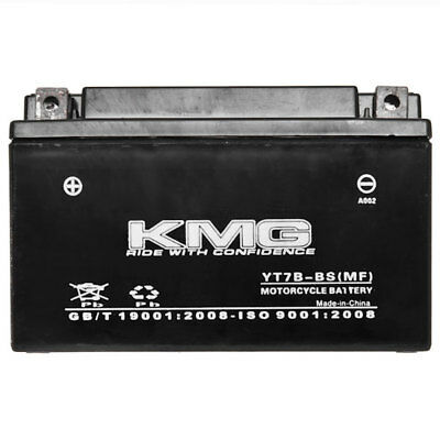 YT7B-BS KMG Maintenace Free 12 Volt Battery Powersport Sportbikes Cruisers SMF