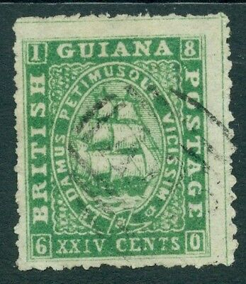 SG 38 British Guiana 1860 24 cent Deep green Very fine used CAT £150