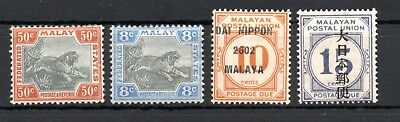 MALAYA , FEDERATED MALAY STATES , 1901 , scarce 50 cents tiger and more , MH !
