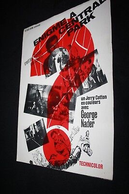 SYNOPSIS film * ENIGME A CENTRAL PARK 1966...