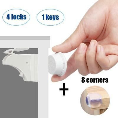 Baby Security Locks Cabinet Cupboard Child Safety Hidden Invisible for...