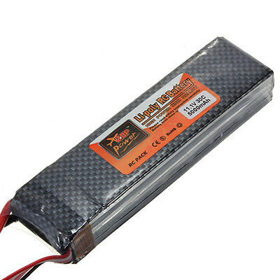 11.1V 3S 5000mAh 30C Rechargeable Lipo Battery for RC Helicopter Airplane