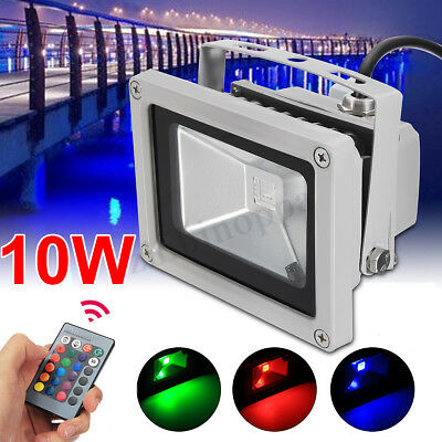 4PCS 10W LED RGB PIR Motion Sensor Flood Light Outdoor Landscape Spot Lamp new