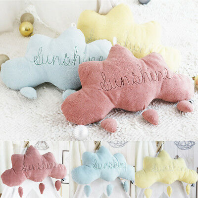 Cloud Rain Drops Cushion Sweet Dreams Childrens Kids Nursery Pillow Soft Toy RS