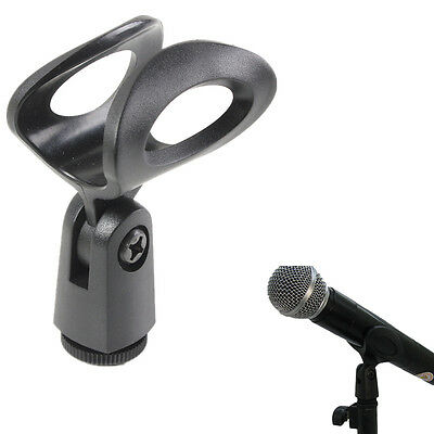 Flexible Rubberized Plastic Mic Clips Holder For Instrument Microphone