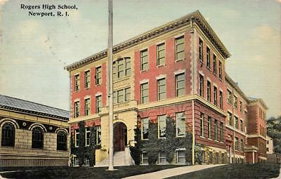 Rogers High School Newport Rhode Island Postcard 1912