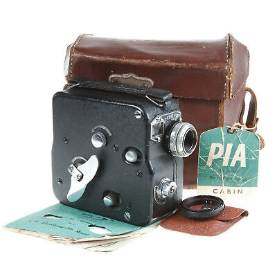 Pathe Pathescope H 9.5Mm Cine Camera With F1.9 Lens, Case, Guide *working*