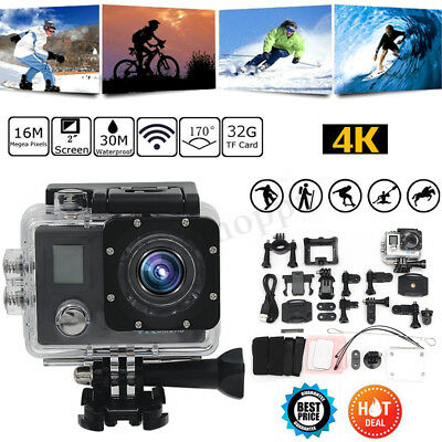 Waterproof 4K Ultra HD 1080P Sports Action Camera 16MP WiFi Video DV  new