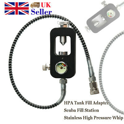 Scuba Refill Station For Filling Paintball Air Tanks 1/8 Female Connector Black
