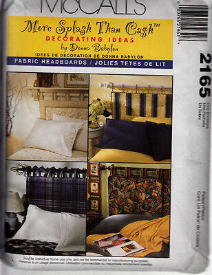 Mccall's  Sewing Pattern #2165 Fabric Headboards By Donna Babylon
