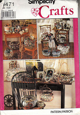 Simplicity Sewing Pattern #9471 Fabric Frames & Basket Covers