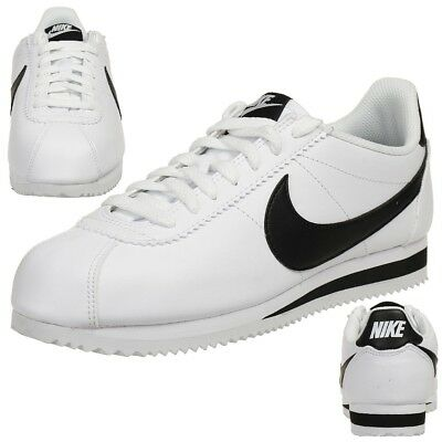 size 40 236d6 9292f Nike Classic Cortez Cuir Baskets Femme Lifestyle Chaussures 807471 101