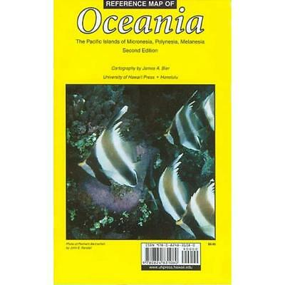 Reference Map of Oceania: The Pacific Islands of Micronesia, Polynesia, Melanesi