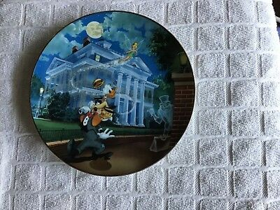 Disneys 40th Anniversary Haunted Mansion Collectors Plate