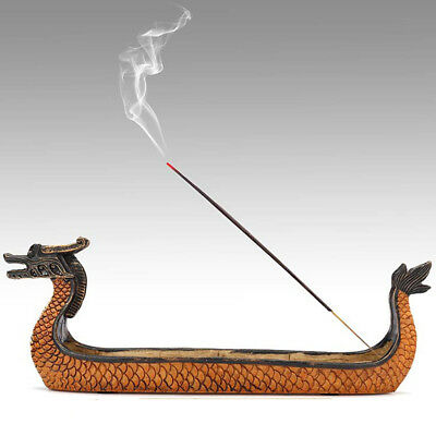 Dragon Incense Stick Holder Resin Burner Hand Carved Carving Censer Ornaments