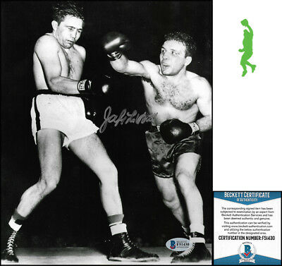 Jake Lamotta Autograph Signed 8X10 Photo Picture Boxing Raging Bull Beckett Coa