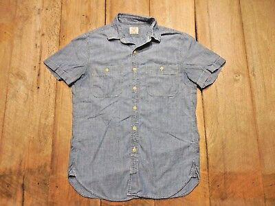J. Crew Vintage Chambray Work Shirt Size Small- 100% Cotton Men's