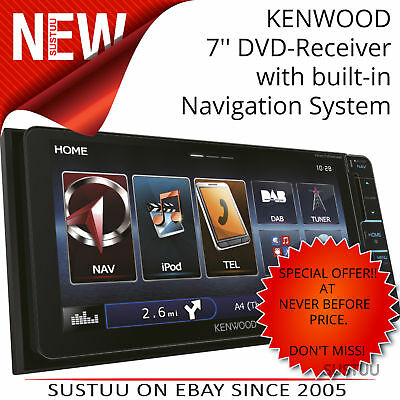Kenwood DNX 715WDAB Double Din DVD/DAB Tuner+Navigation System (Japanese 200mm)