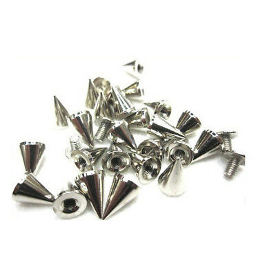 100Pcs Cone Spikes Screwback Studs Cool Rivets Punk Stud Conical Layer for Decor