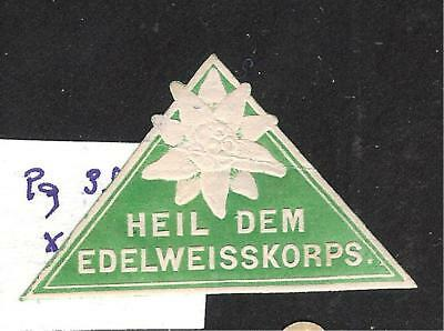 Austria Hungary  Imperial Forces Hail Edelweiss Corps  Page 380 (Ww104)******