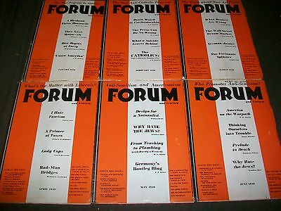1939 Forum Magazine Lot Of 12 - Complete Year - Great Articles & Ads - Wr 761