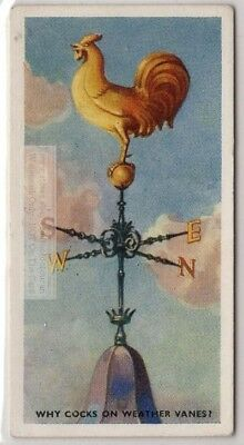 Origin Of The Rooster Used On Weathervane Weathercock 75+ Y/O Trade Ad Card