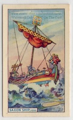 1050 A.D. Saxon Double Ended Single Mast Boat 75+ Y/O Trade Card