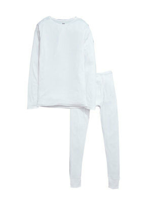 V by Very Pack of Two Top and Bottom Thermals in White Size 11-12 Years