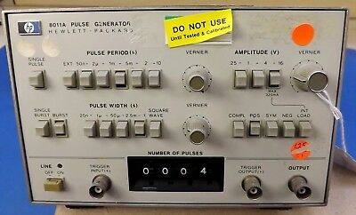 Hp 8011A Pulse Generator Test Lab Equipment