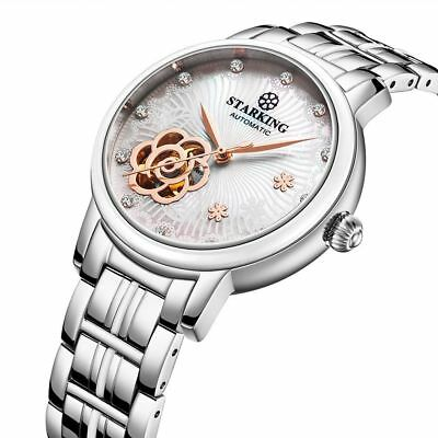 STARKING Ceramic Watch Self Winding Automatic Sapphire AL0260 Mother of Pearl Wh