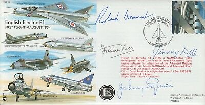 Raf Souvenir Cover Signed Jimmy Dell Roland Beamont Freddie Page & Johnny Squire