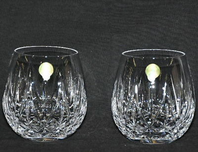 Waterford Crystal Fitzgerald Stemless Wedge Cut Wine Glasses