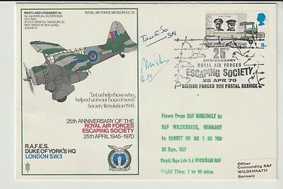 Raf Souvenir Cover Signed 2 Unknown Dignitaries