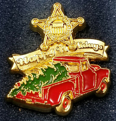 2018 Secret Service Christmas Tree Truck Lapel Pin White House Donald Trump
