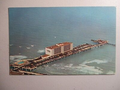 Old Postcard, GALVESTON ISLAND, TEXAS, FLAGSHIP HOTEL OVER GULF OF MEXICO