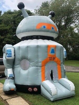 Commercial Large Robot Blow Up Bounce House Inflatable + 2 HP Zoom Blower