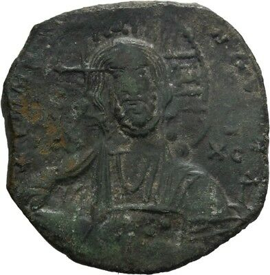 Lanz Byzantine Empire Anonymous Follis Basil Christ Class A2 Bronze §teg145