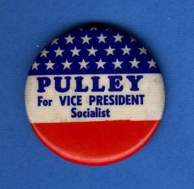 1972 Pulley For Vice President Socialist Workers Party Pin