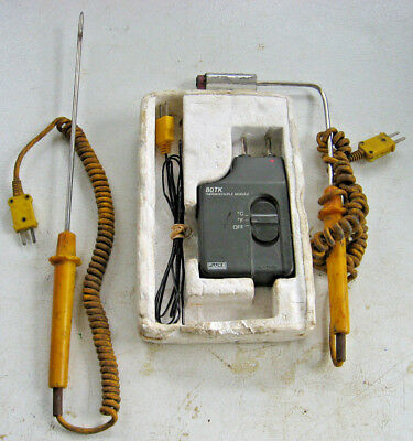 Fluke 80TK  Thermocouple Module With Extra Probes