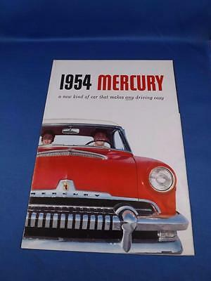 1954 Mercury Sales Brochure Fold Out Poster Specifications
