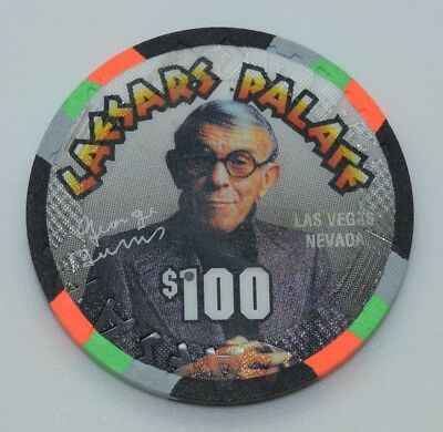 Caesars Palace $100 Casino Chip Las Vegas NV House Mold Paul-son George Burns