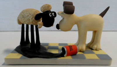 Wallace and Gromit A Close Shave Shaun Sheep Treacle Mess Resin Figurine Limited