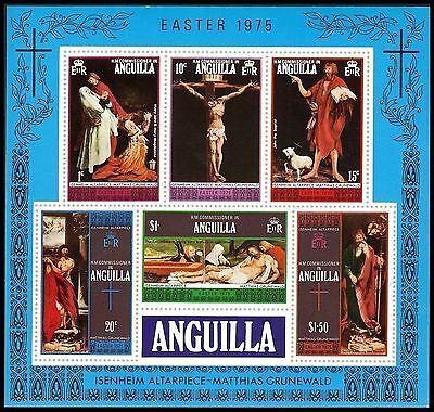 """ANGUILLA 216a (SG208) - Easter """"Isenheim Altar Paintings"""" S/S (pf19751)"""