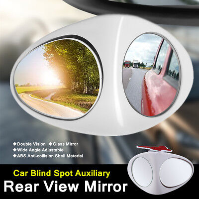 360° Auto Car Blind Spot Mirror Adjustable Rotation Convex Rear View Wide Angle