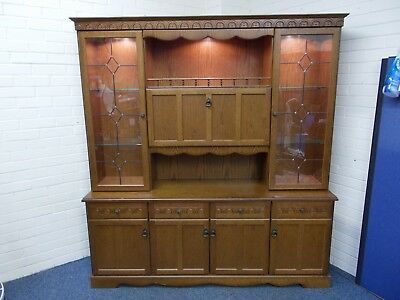 Morris Furniture 'Hamplet 012' Two Piece Display Cabinet