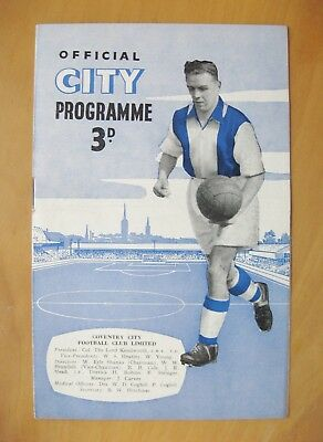 COVENTRY CITY v SHREWSBURY TOWN 1955/1956 *Exc Condition Football Programme*