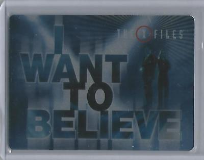 """X-Files Seasons 10 & 11 - CT2 """"I Want To Believe"""" Metal Case Topper Card"""