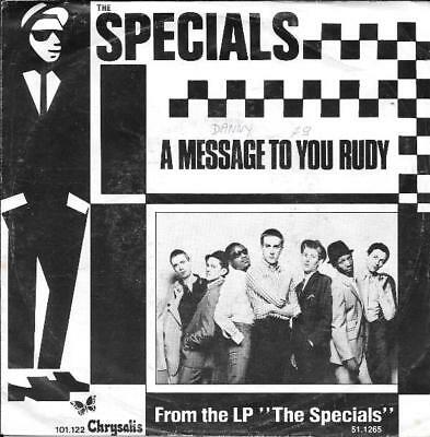 The Specials 45 A Message To You Rudy+Ps Holland Rare 1979 Ska