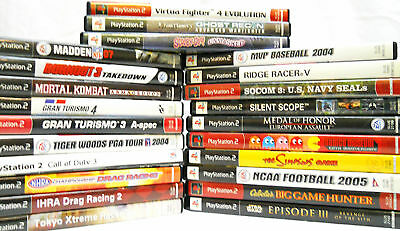 Lot of 23 PlayStation 2 Games (100)