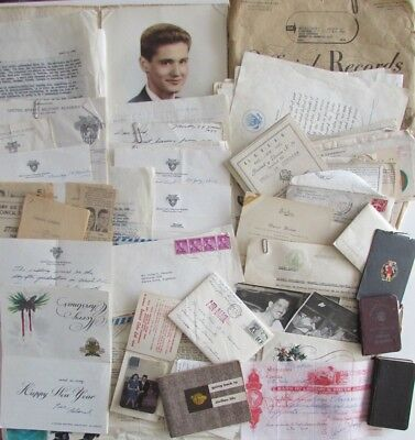1961 West Point Academy Graduate Papers Tragic Death & 1940's Military Documents